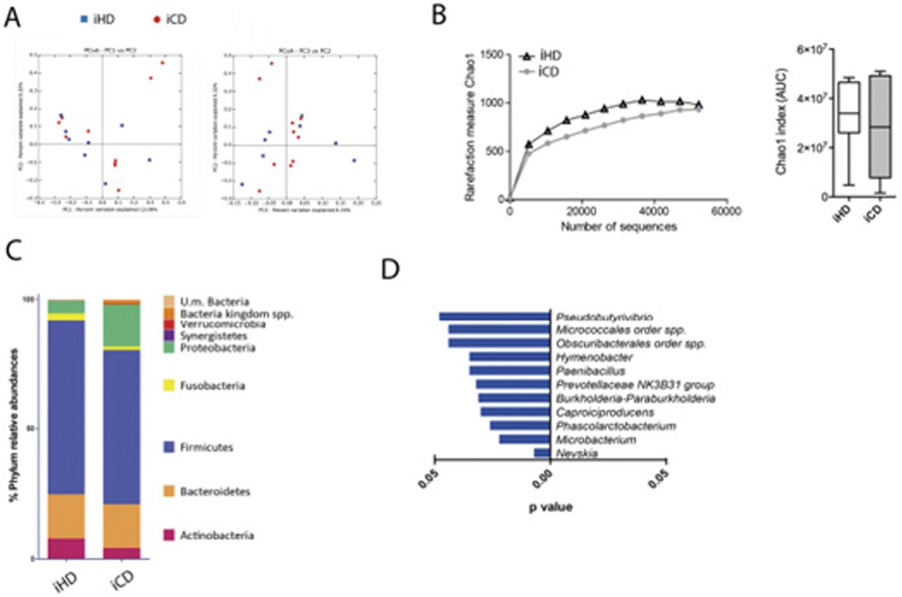 Mucosa-associated microbiota drives pathogenic functions in